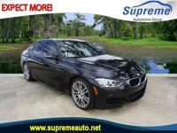 Clean CARFAX. Black Sapphire Metallic 2014 BMW 3 Series