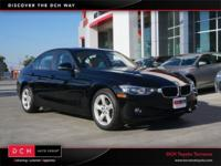 Clean CARFAX. Black 2014 BMW 3 Series 320i RWD 8-Speed