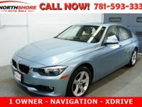 CARFAX One-Owner. Liquid Blue Metallic 2014 BMW 3