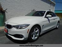 Clean CARFAX. White 2014 BMW 4 Series 428i RWD 8-Speed