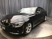 CARFAX One-Owner. Clean CARFAX. Jet Black 2014 BMW 4