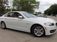 This 2014 BMW 5 Series 528i in White features:Clean