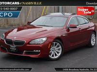 This 2014 BMW 6 Series 4dr 640i Gran Coupe features a