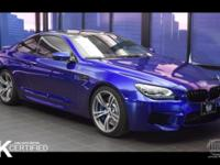 Clean CARFAX. San Marino Blue Metallic 2014 BMW M6 RWD