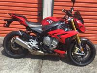 This 2014 bmw s1000 r is fully optioned with every
