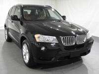 2014 BMW X3 xDrive28i  in Jet Black. Cold Weather