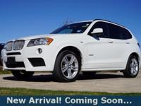 2014 BMW X3 xDrive28i in Alpine White, AWD, This X3