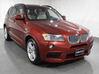 2014 BMW X3 Vermilion Red Metallic AWDCARFAX One-Owner.