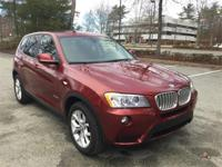 Nicely equipped 2014 BMW X3 xDrive35i in Vermilion Red