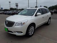 White Diamond Clearcoat 2014 Buick Enclave Leather