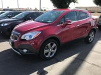 Clean CARFAX. Red 2014 Buick Encore Leather 4D Sport