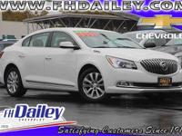 Options:  2014 Buick Lacrosse Base|White|Cloth Seat