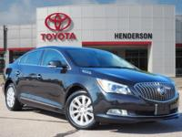 Clean CARFAX. Carbon 2014 Buick LaCrosse Leather Group