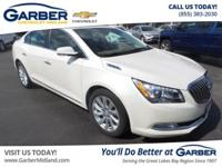 New Price! Clean CARFAX. 2014 Buick LaCrosse White