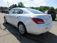 Options:  2014 Buick Lacrosse Leather|White Diamond