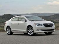 New Price! Certified. Summit White 2014 Buick LaCrosse