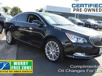 New Price! Clean CARFAX. Black 2014 Buick LaCrosse
