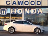 Options:  2014 Buick Regal Turbo|White|18 Alloy