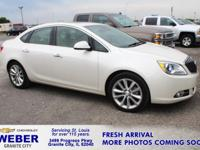 Recent Arrival! White Buick Verano  30/21 Highway/City