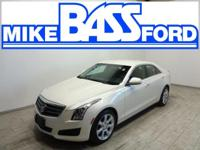 ATS 2.0L Turbo, AWD, White Diamond Tricoat, and