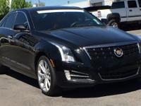 Clean CARFAX. Certified. Black Raven 2014 Cadillac ATS