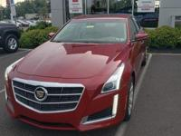 CARFAX One-Owner. Red 2014 Cadillac CTS 2.0L Turbo