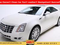 Cadillac CTS Premium 2014 CARFAX One-Owner. Leather