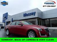 CARFAX One-Owner. Clean CARFAX. Red 2014 Cadillac CTS