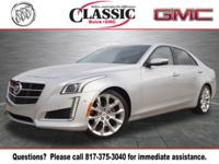 New Price! Radiant Silver Metallic 2014 Cadillac CTS