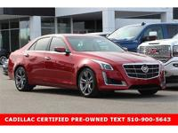 CADILLAC CERTIFIED CARFAX One-Owner. Clean CARFAX.