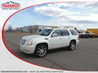Options:  2014 Cadillac Escalade Luxury|White|Black