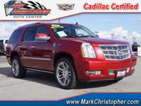 Platinum trim. CARFAX 1-Owner, Cadillac Certified, LOW