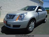 Clean CARFAX. Silver 2014 Cadillac SRX FWD 6-Speed