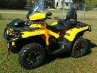2014 Can Am Outlander Max 650XT. 2 person legal with