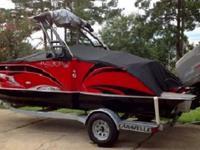 Boat comes with a 150 hp 4 stroke Suzuki Outboard