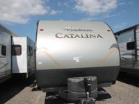 The 2014 Catalina 293QBCK is a bunkhouse travel trailer
