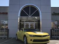 CARFAX One-Owner. Yellow 2014 Chevrolet Camaro 2LS RWD