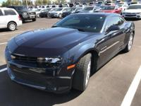 Certified. This 2014 Chevrolet Camaro in Blue Ray