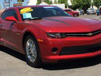 Clean CARFAX. Certified. Maroon 2014 Chevrolet Camaro