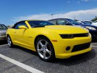 Bright Yellow 2014 Chevrolet Camaro 2LT 2LT RWD 6-Speed