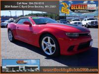 Clean CARFAX. Red 2014 Chevrolet Camaro SS 2SS RWD
