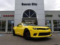 Yellow 2014 Chevrolet Camaro SS 1SS RWD 6-Speed Manual
