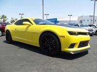 Come see this 2014 Chevrolet Camaro SS. Its Manual