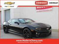 Clean CARFAX. Certified. Black 2014 Chevrolet Camaro