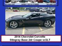 2014 Chevrolet Corvette Stingray Base 2dr Coupe w/2LT
