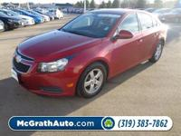 This 2014 Chevrolet Cruze has less than 28k miles..
