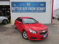 This New 2014ChevroletCruze1LT Auto is well Equipped