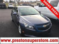 Options:  2014 Chevrolet Cruze 1Lt|Blue|*Off Lease -