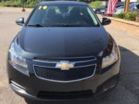 Options:  2014 Chevrolet Cruze 1Lt|Black|Clean Carfax.