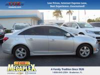 This 2014 Chevrolet Cruze 1LT in Silver Ice Metallic is